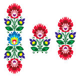 Polish floral folk embroidery pattern