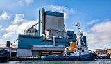 Maritime pilot ship. Aabenraa harbor in Denmark