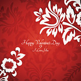 Floral vintage Valentine card 