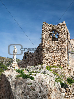 Church in the rock in Mijas in Spain