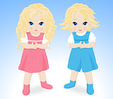 little children boy and girl