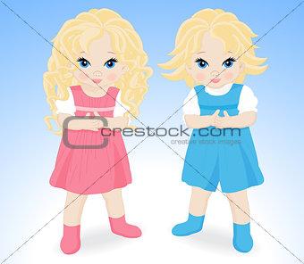 little children boy and girl