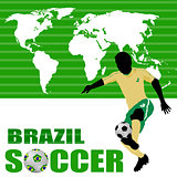Brazil soccer poster