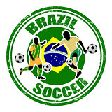 Brazil soccer stamp
