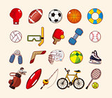 sport element icons set