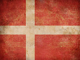 Grunge Denmark flag as a background