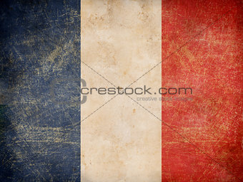 old French tricolour flag