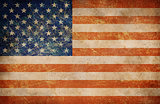 Grunge USA flag as a background