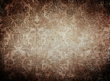 grunge vintage wallpaper background with classy pattern