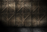 grungy metal industrial plates room
