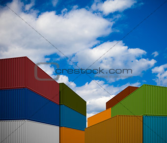 Stack of transportation containers