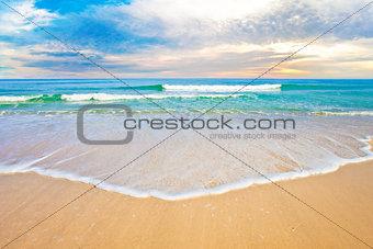 tropical ocean beach sunrise or sunset