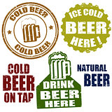 Cold beer stamps