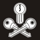 Jolly Roger lock with keys
