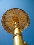 Golden umbrella, Wat Phrathat Doi Suthep temple in Chiang Mai, T