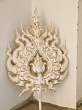 Architectural ornament, Wat Rong Khun at Chiang Rai, Thailand 