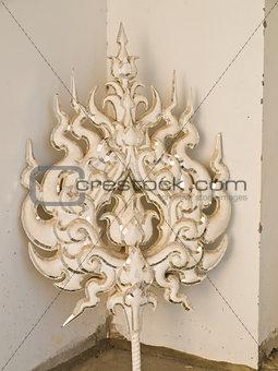 Architectural ornament, Wat Rong Khun at Chiang Rai, Thailand