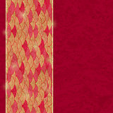 Retro Red Card with Wave Pattern