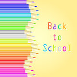 Colorful Pencils and Back to School Text
