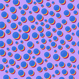 Seamless Pattern with Colorful Dot Stacks