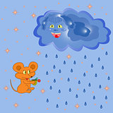 Mouse And Rain Cloud