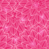 Pink Floral Seamless Pattern with Flower Silhouette