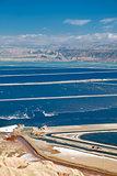 Pools plants Dead Sea.