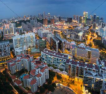 Singapore Skyline Along Singapore River