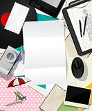 Letter collage abstract