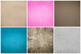 Old Vintage Papers Texture Set  (Blue, Pink, Grey, Brown)