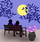 Bench in the Moonlight