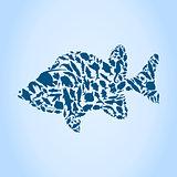 Silhouette fish