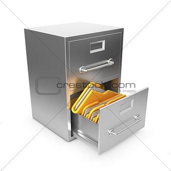 Folders in Archive Drawer.