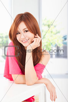 smiling young beautiful woman
