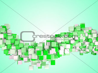 Cubes. Three-dimensional abstract digital cube background