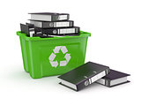 Folders in recycle bin. 3d