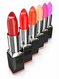 Row of lipsticks