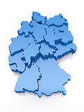 Three-dimensional map of Germany