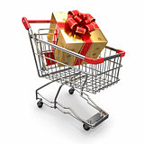 Gift in shopping cart
