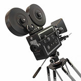 Vintage movie camera. 3d
