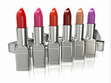 Row of lipsticks.