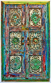 Old wooden shutters.