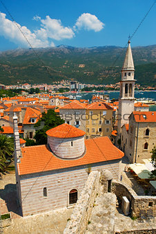 Old town Budva in Montenegro