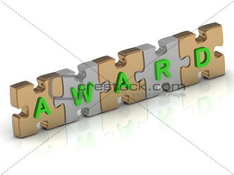 AWARD word of gold puzzle