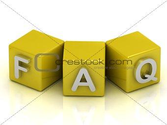 FAQ text on gold cubes