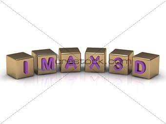 IMAX 3D on gold cubes