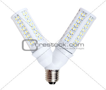 LED-lamps in V-form splitter