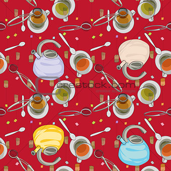 tea house accessories pattern