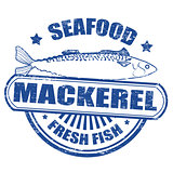 Mackerel fish stamp
