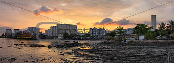 Sunset Over Georgetown Penang Malaysia